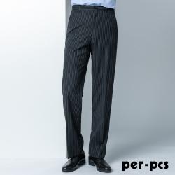 per-pcs 質感紳士西裝褲_條紋黑(85112)