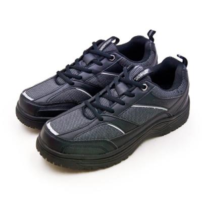 ARNOR 防滑防潑水多功能工作鞋 穩健邁步系列 黑 83100