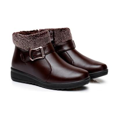 LN 秋冬加絨防滑雪地短靴-3色