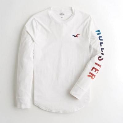 Hollister HCO 長袖 T恤 白色  1436