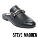 STEVE MADDEN-KERA 馬銜扣壓紋低跟穆勒鞋-黑色 product thumbnail 1
