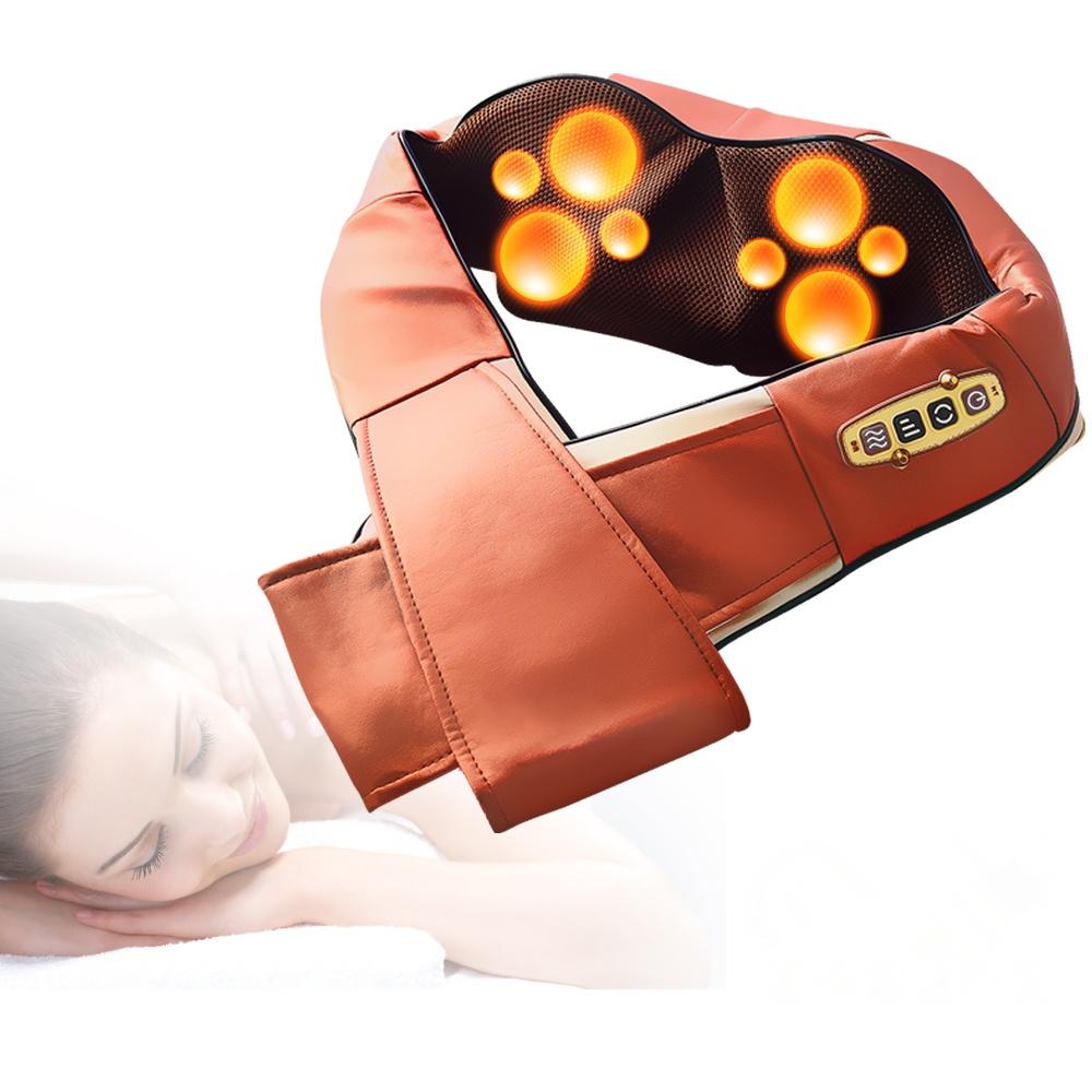 Concern 康生 4D仿真人肩頸揉捏按摩披肩-咖金 CON-158