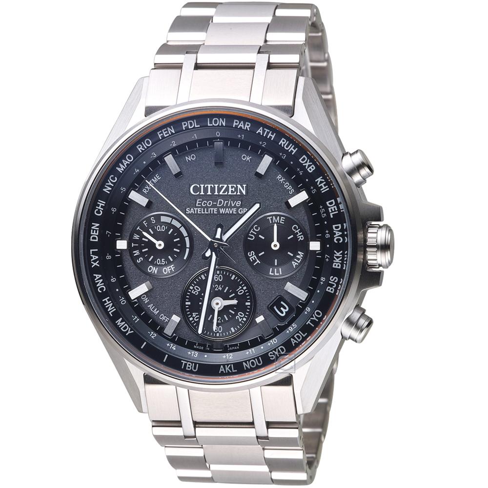 CITIZEN 星辰 GPS衛星對時鈦金屬限量腕錶(CC4000-59E)