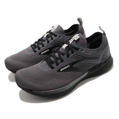 Brooks 慢跑鞋 Ricochet 3 運動 男鞋 路跑 緩震 DNA科技 透氣 健身 球鞋 灰 黑 1103611D009