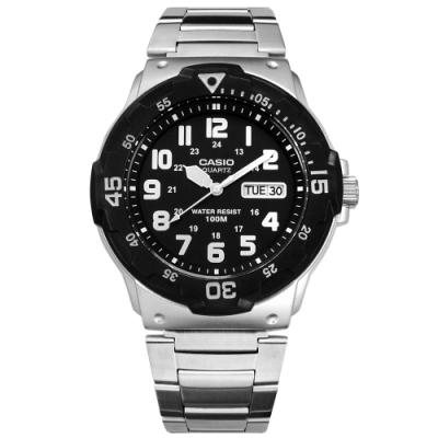 CASIO 卡西歐 潛水風 不鏽鋼手錶-黑色 MRW-200HD-1B 43mm