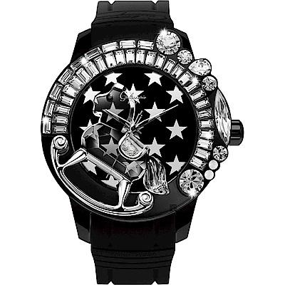 Galtiscopio迦堤 夢幻星際系列星空手錶-黑/50mm