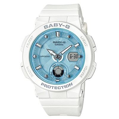 BABY-G 熱愛海洋風格船舵概念設計霓虹照明運動錶(BGA-250-7A1)藍色面41m