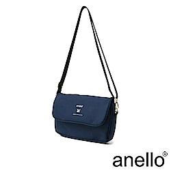 anello 實用高機能性防潑水斜背包 深藍