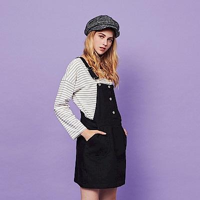 CACO-排釦簡約吊帶裙-(兩色)-女【RSH034】