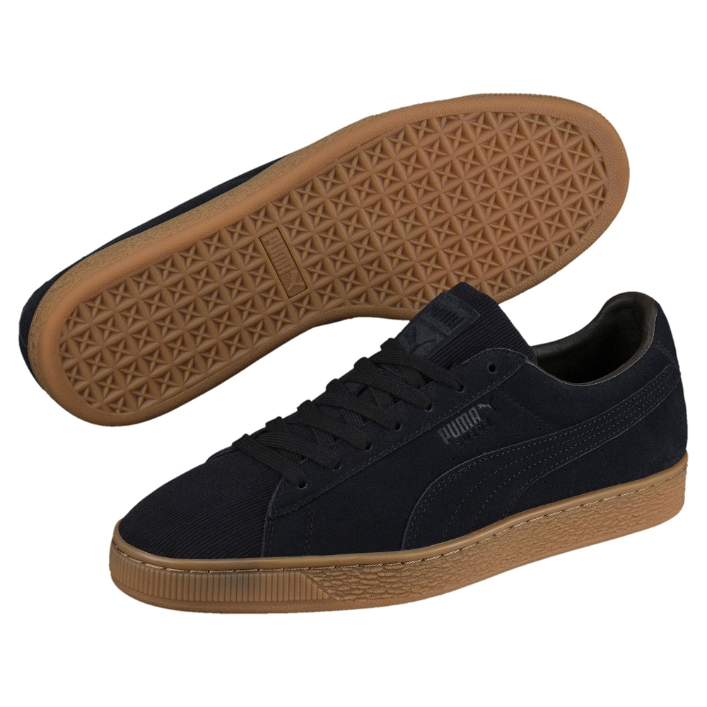 PUMA-SuedeClassicPincord男女籃球鞋-黑色