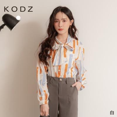 東京著衣-KODZ 耀眼韓妞金蔥色彩蝴蝶結領上衣