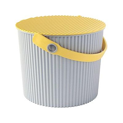 日本優秀設計獎賞HACHIMAN時尚M型8公升收納桶(黃色系)