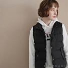 GIORDANO  女裝經典素色鈕扣款保暖背心 - 01 標誌黑