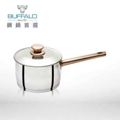 Buffalo牛頭牌 雅登金圓滿湯鍋18cm/2.79L-304不銹鋼玫瑰金(單把含鍋蓋)