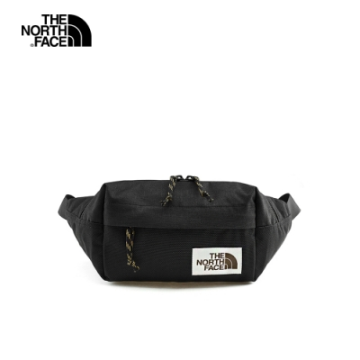 The North Face北面男女款黑色復古休閒腰包|3KY6KS7