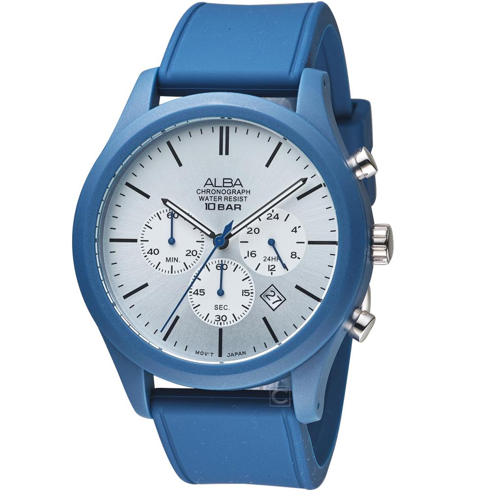 ALBA雅柏街頭運動時尚錶(VD53-X347B AT3G29X1)-藍