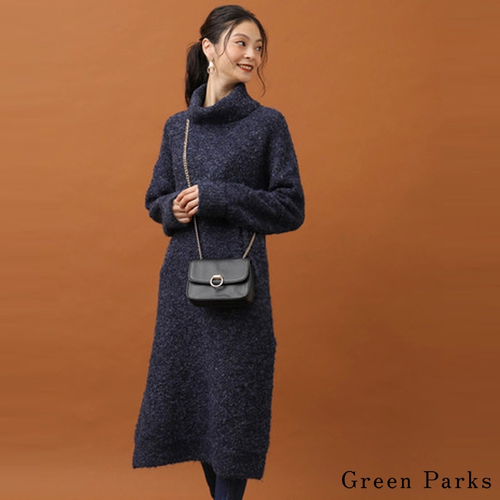 Green Parks 柔軟毛料針織連身洋裝