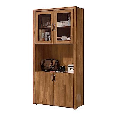 H&D 克里斯2.6尺四門書櫃