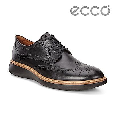 ECCO LHASA時尚雕花魅力風格紳士正裝鞋 男-黑