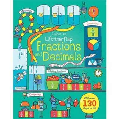 Lift-The-Flap Fractions And Decimals 認識分數與小數翻翻學習書