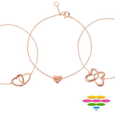 [時時樂限定]彩糖鑽工坊 銀鍍玫瑰金手鍊 桃樂絲 Doris系列(8款可選)