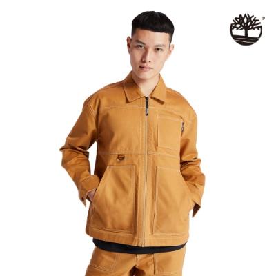 Timberland 男款小麥黃品牌標誌工裝夾克外套 A2ADD