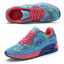 韓國KW美鞋館 歐美繽紛彩色氣墊式美型鞋-藍色
