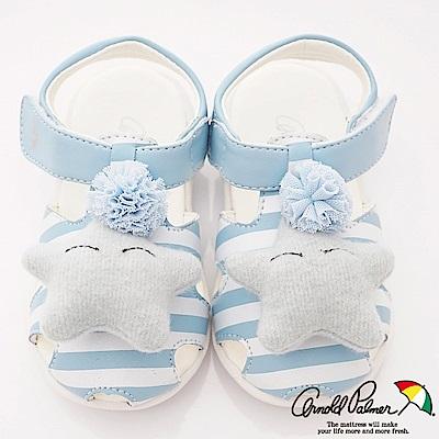 雨傘牌 小星星護趾學步涼鞋款 EI93805藍色(小童段)