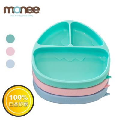 【韓國monee】100%白金矽膠 恐龍造型可吸式餐盤 (3色可選)