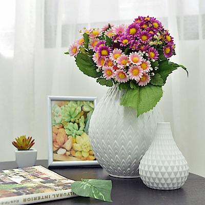 Meric Garden 北歐現代簡約創意陶瓷花瓶_(清雅白M)