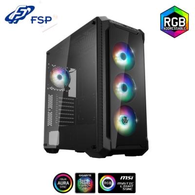 FSP 全漢 CMT520 PLUS 光戰警 PLUS 玻璃透側 E-ATX 電腦機殼