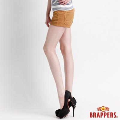 BRAPPERS 女款 Boy Friend Jeans系列-女用彈性條絨短褲-土黃