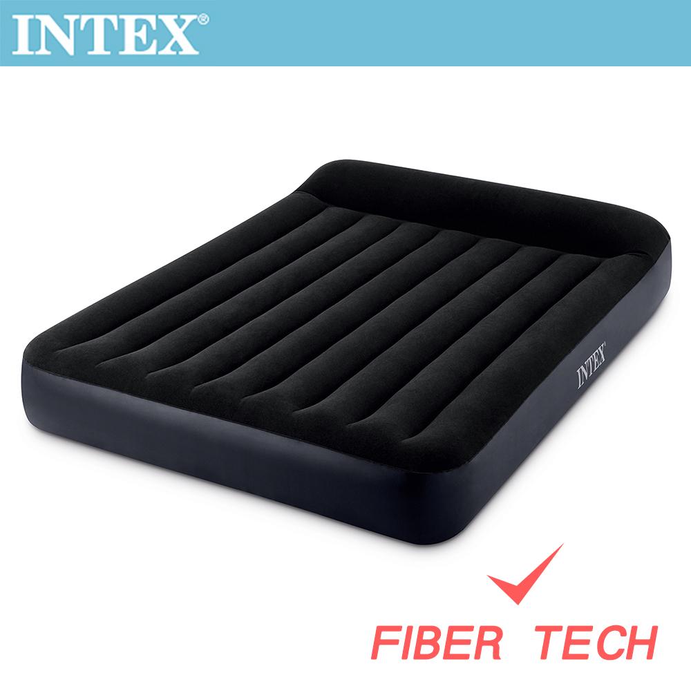 INTEX 舒適雙人特大充氣床(FIBER TECH)-寬183cm(64144)