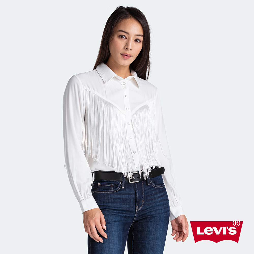 Levis 女款 長袖襯衫 時尚大流蘇設計