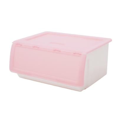 完美主義 掀蓋式收納箱/塑膠櫃/玩具箱-52L(3入組)(4色)
