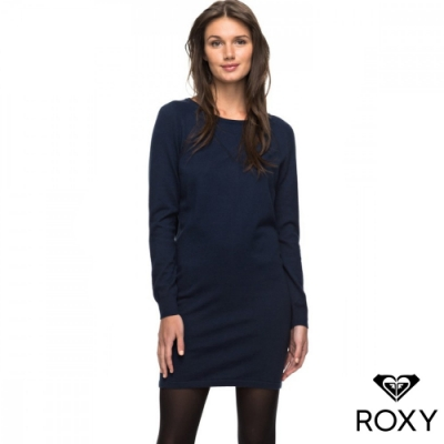 【ROXY】WINTER STORY 針織洋裝 海軍藍