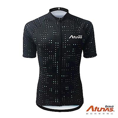 《Atunas Bike》歐都納 單車 AB19011 單車星空短車衣 黑