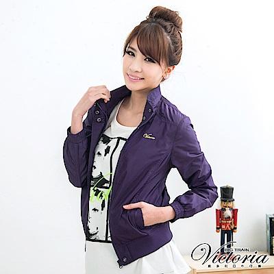 Victoria 抗UV薄外套-女-紫色
