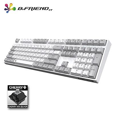 B.Friend MK7R Cheery銀軸PBT白光遊戲鍵盤(白色)