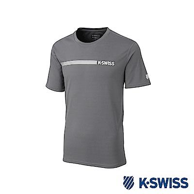 K-SWISS PF Solid Tee排汗T恤-男-灰