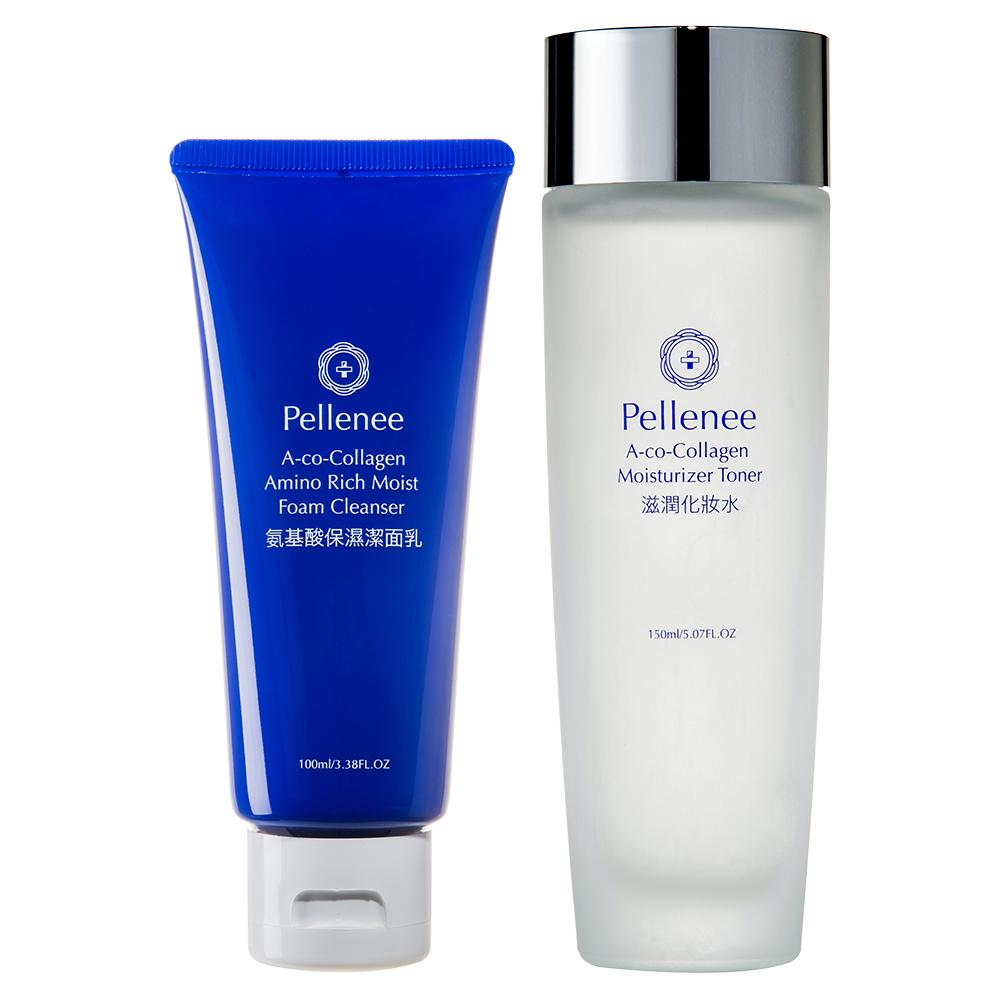 Pellenee沛樂妮 氨基酸保濕潔面乳 100ml +滋潤化妝水 150ml