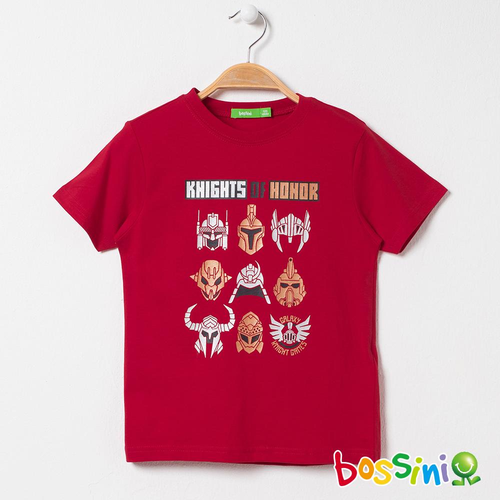 bossini男童-印花短袖T恤04紅色