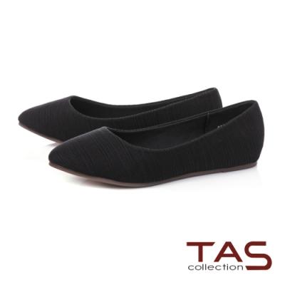 TAS進口彈力布平底娃娃鞋-百搭黑