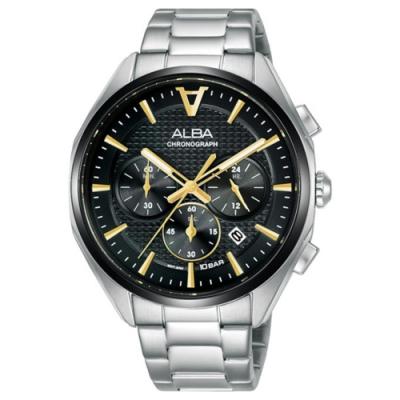 ALBA 雅柏 東京賽車三眼計時手錶-42mm(VD53-X366D AT3G79X1)