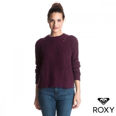 【ROXY】BRIGHT WHITES 純棉針織衫 暗紅