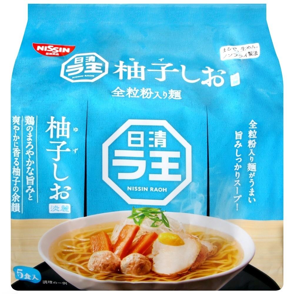 日清食品 全麥拉王5食袋裝麵-柚子鹽味(465g)