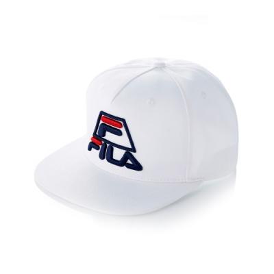 FILA 時尚LOGO帽-白 HTT-5008-WT