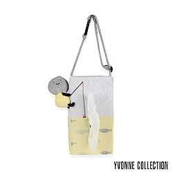 Yvonne Collection 以旺娃娃車用面紙套-淺淺灰/黃