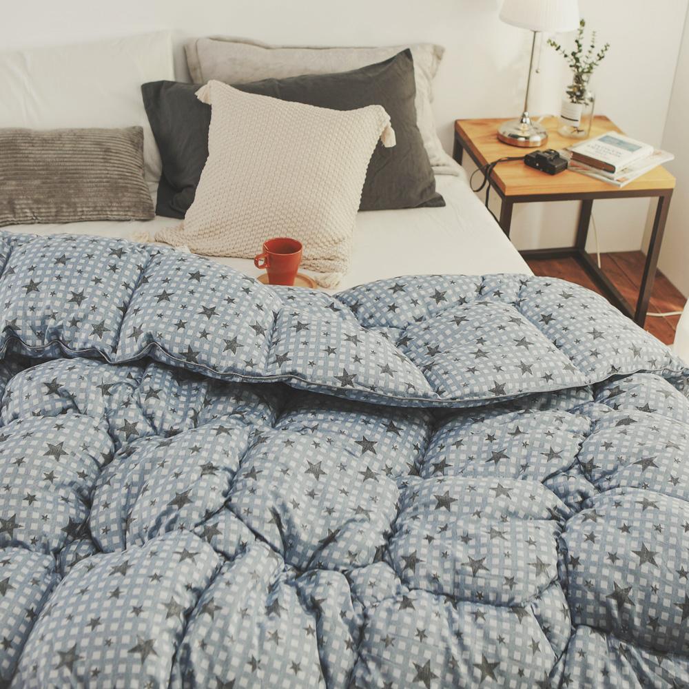絲薇諾 極暖科技羽絲絨被(3.2kg)-藍色星星-180×210cm