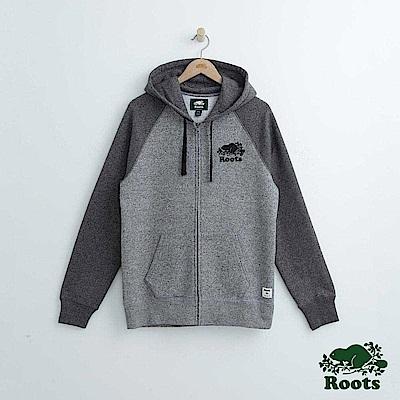 Roots 男裝-經典連帽外套-灰色
